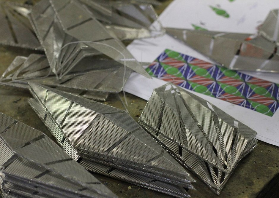 Conrad Shawcross, maquette for The Optic Cloak in production.