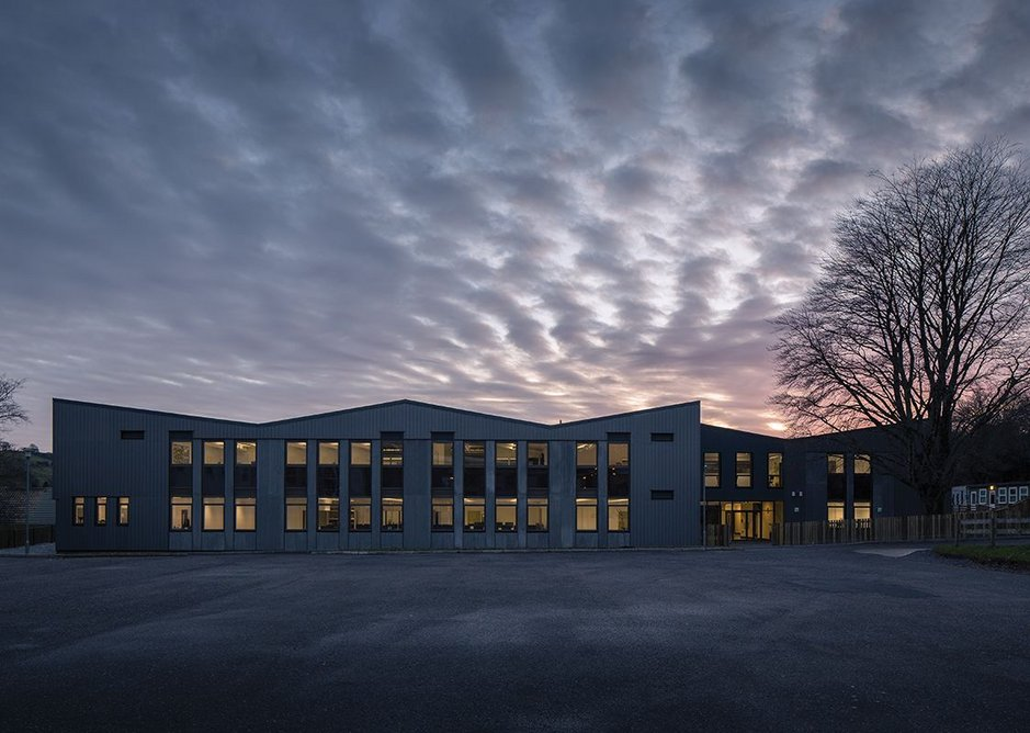 The roofscape gives extra character to this new school.