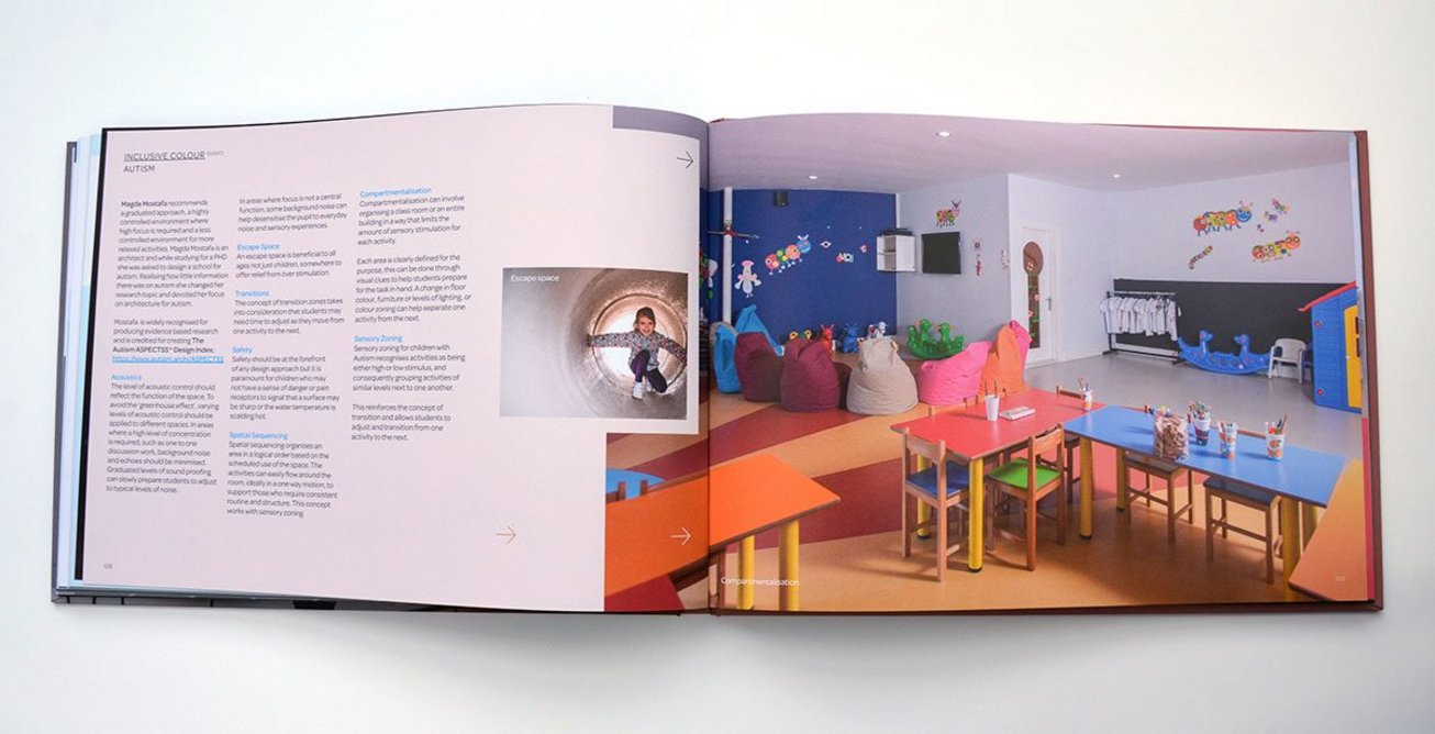 Acoustics, escape spaces, transitions and sensory zoning can all be important considerations when designing spaces for people with autism.
