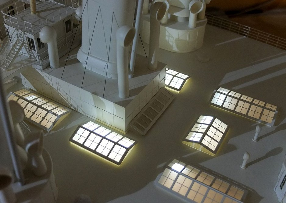 Detail of the Livadia model. Tsar Alexander II was assassinated before he could sail on the yacht.