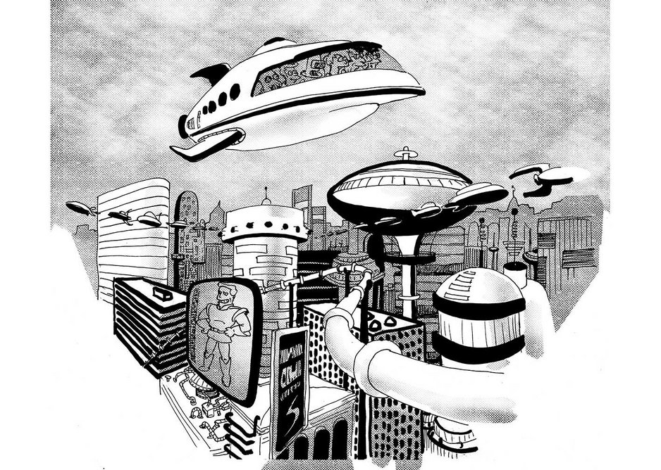 Futurama by Ciana Pullen. Named after the 1939 New York World Fair Futurama exhibit, the turn of the century television series  is set in 31st century New York.