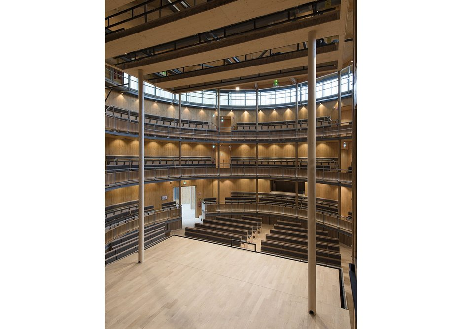 The dimensions give a similar intimacy between actor and audience to that of the original Globe Theatre.