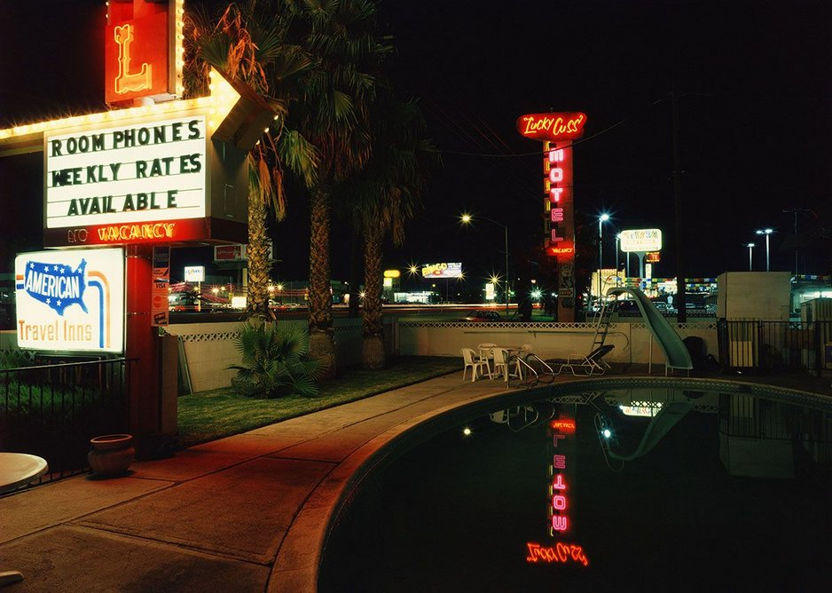 The Lucky Cuss Motel by Fred Sigman (1995), from the new book Motel Vegas.