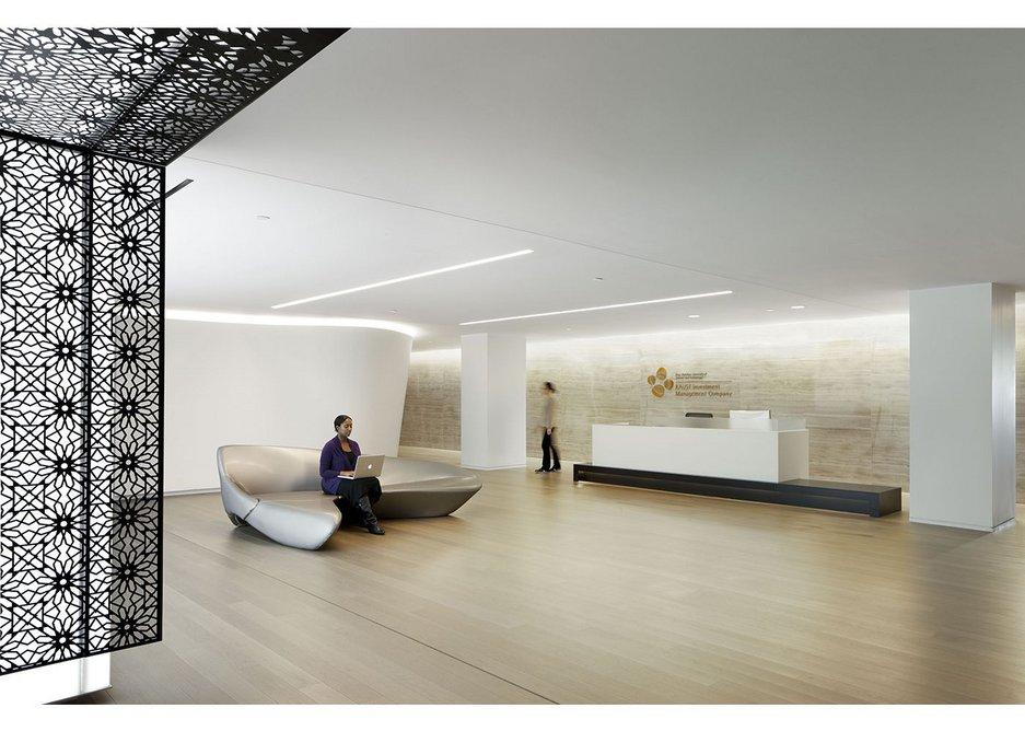 Junckers Leveldek solid hardwood flooring with integrated underfloor heating.