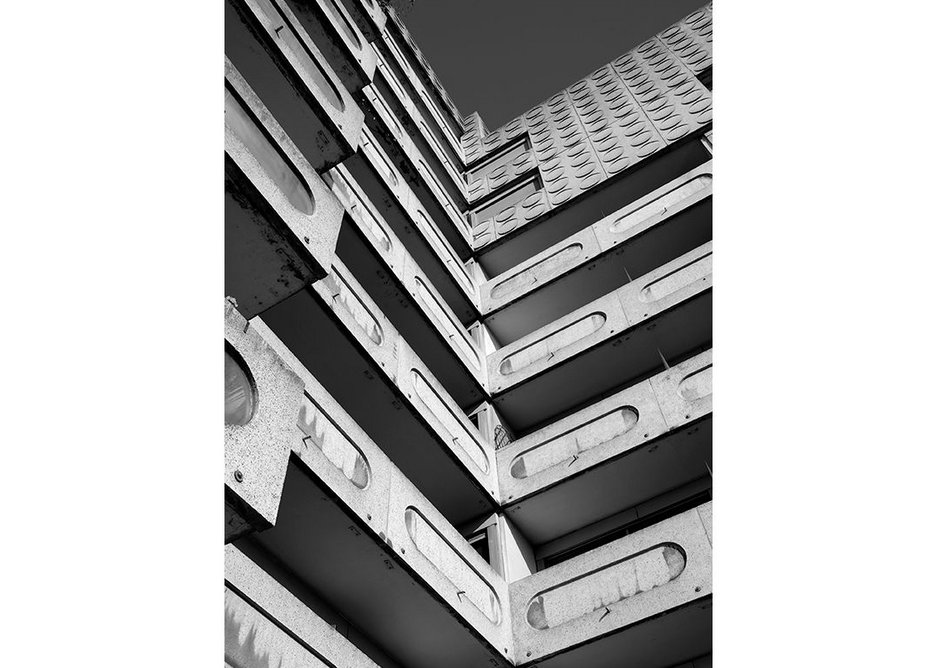 'Les Damiers' apartment blocks, designed by Michel Folliasson, 1974-76.