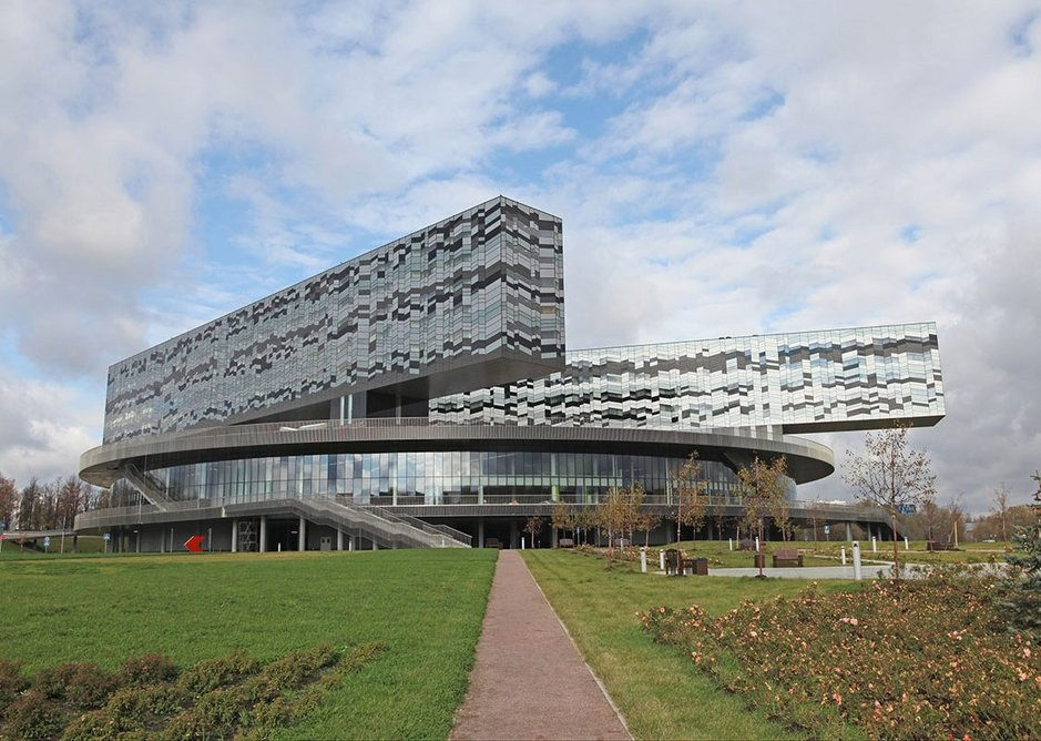 The Moscow School of Management Skolkovo from 2012.
