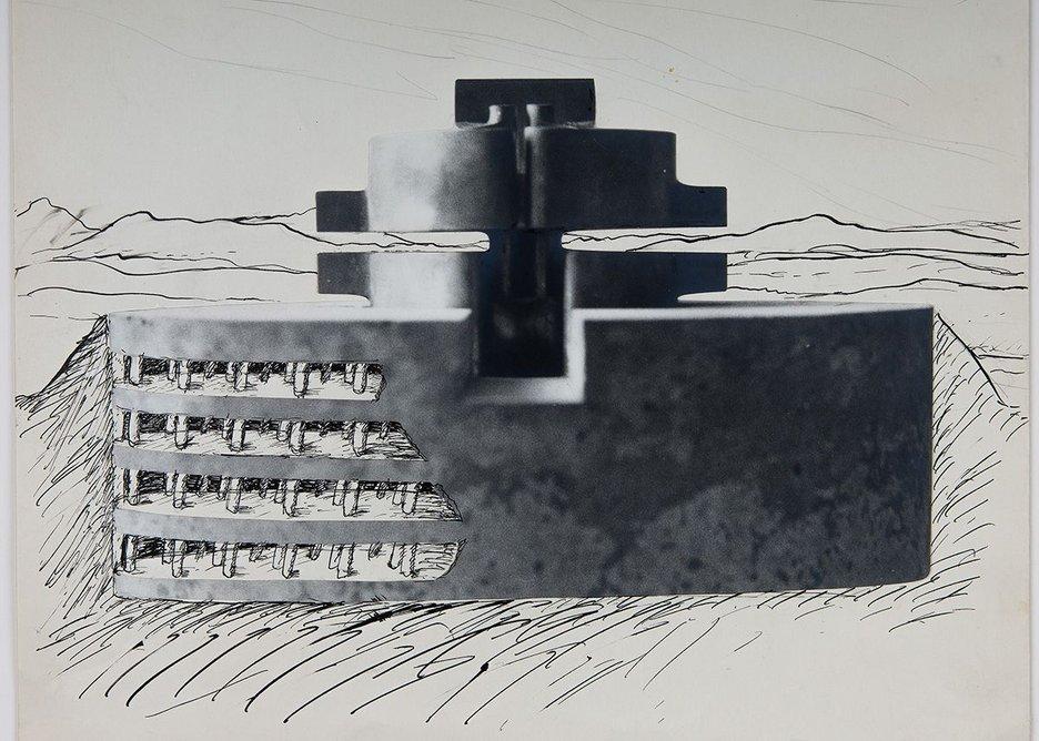Walter Pichler, Study for the Underground City, c. 1963.