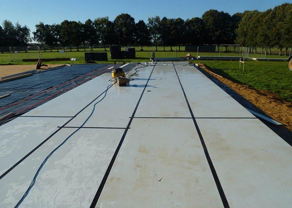 Tufeco panels as ground-bearing slab.