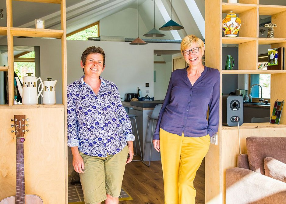 Clients Gail Cooke (left) and Jo Mallows.