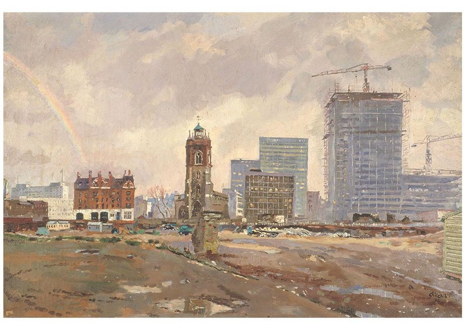 Out of the Ruins at Cripplegate, 1962, by David Ghilchik.
