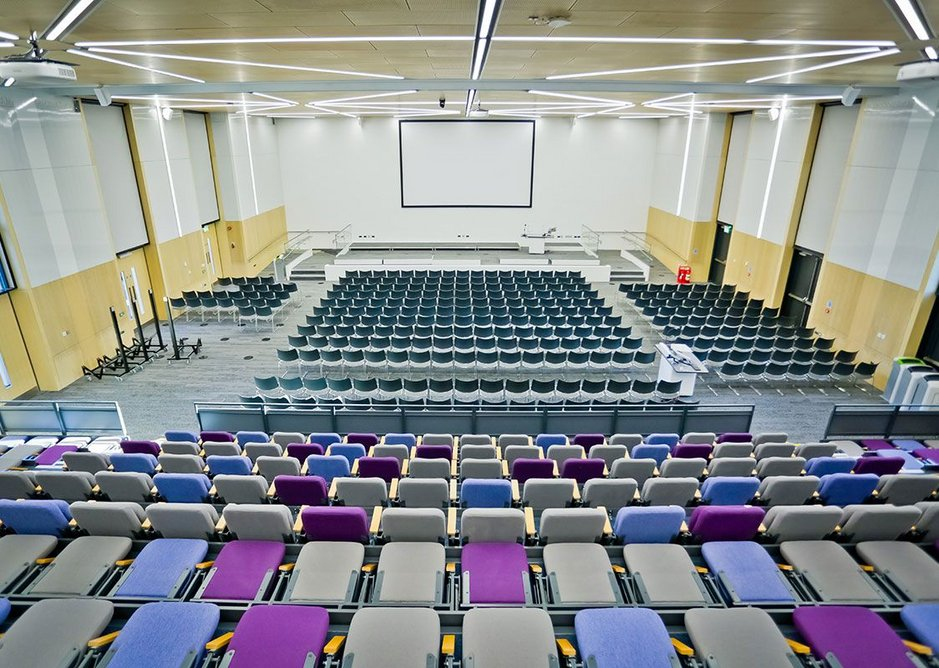 The Sir Kenneth Wheare Hall features Interface's Human Nature modular flooring.