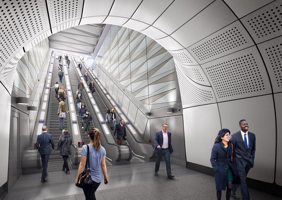 Liverpool Street Station Crossrail by architects Hawkins Brown.