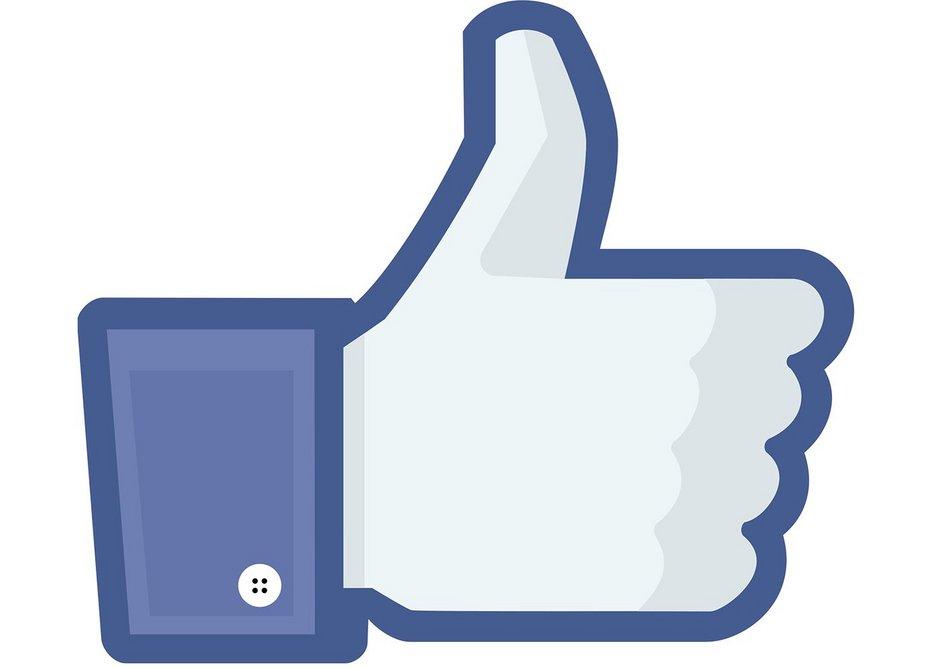 Facebook 'Like' icon, Facebook, 2016. Digital reproduction. Facebook, Menlo Park.