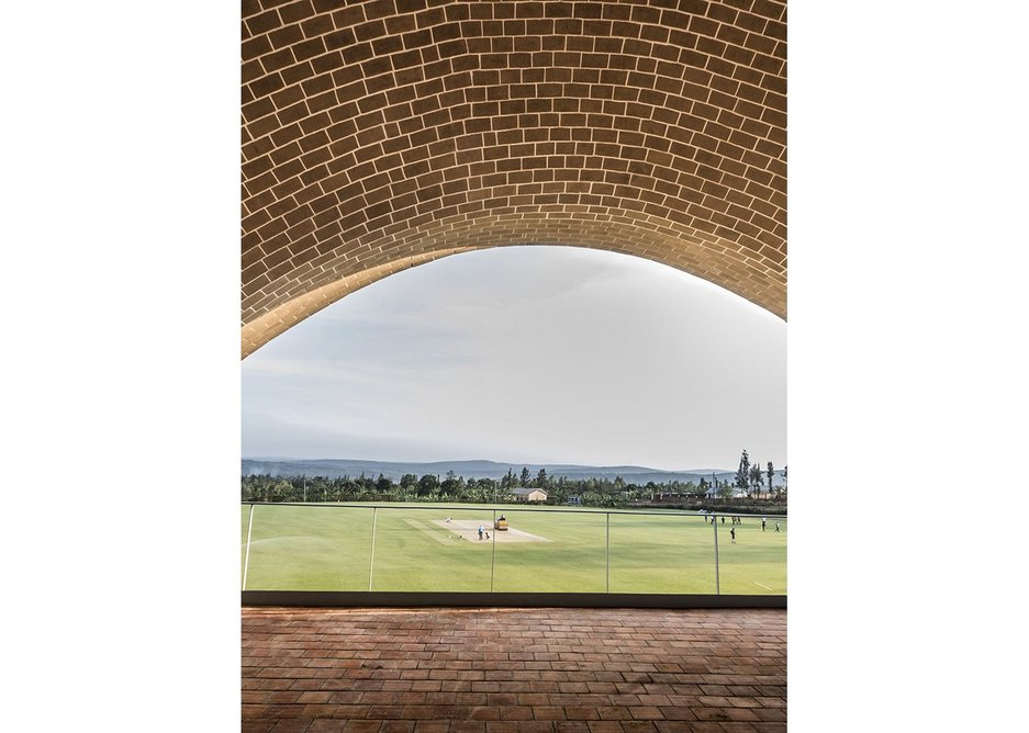 View of the wicket from the pavilion.