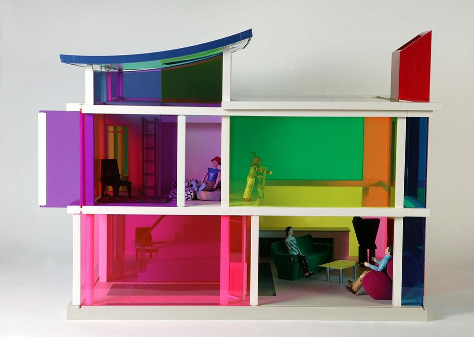Colourful with the odd modernist replica thrown in – Kaleidoscope House, 2001, by Laurie Simmons.
