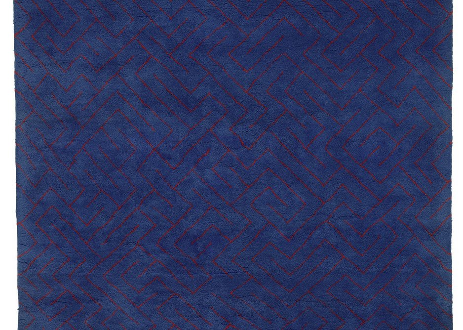 Red Lines on Blue, 1979, Anni Albers. Designed for Modern Masters Tapestries. Wool.