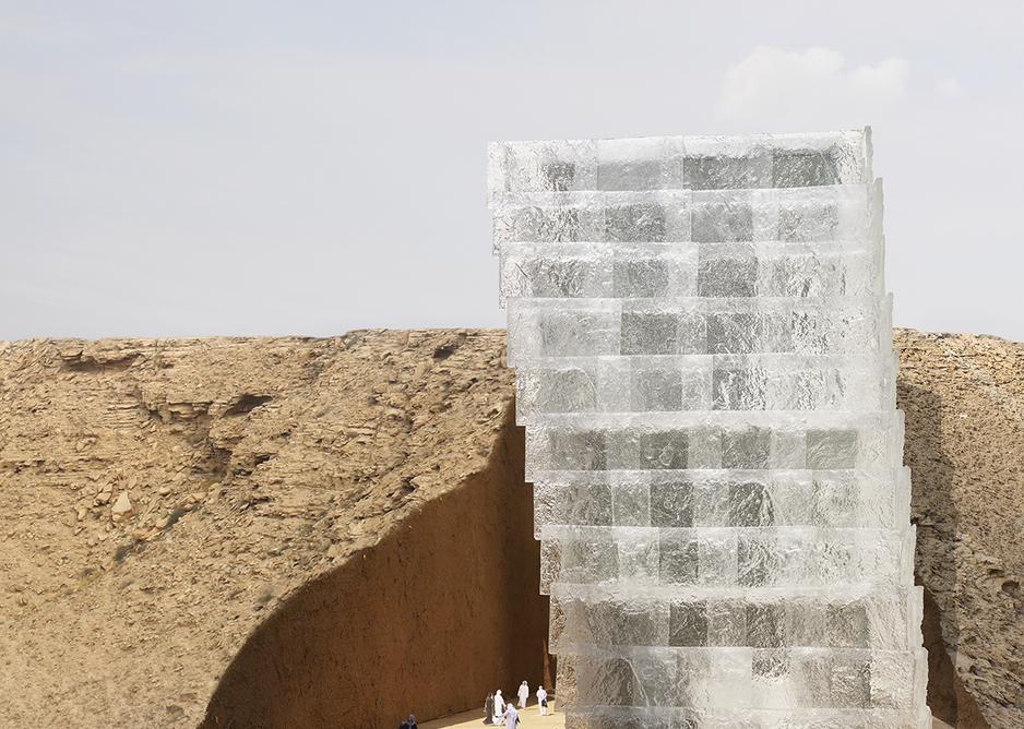 Next cast glass for Riyadh Art Institute proposal.