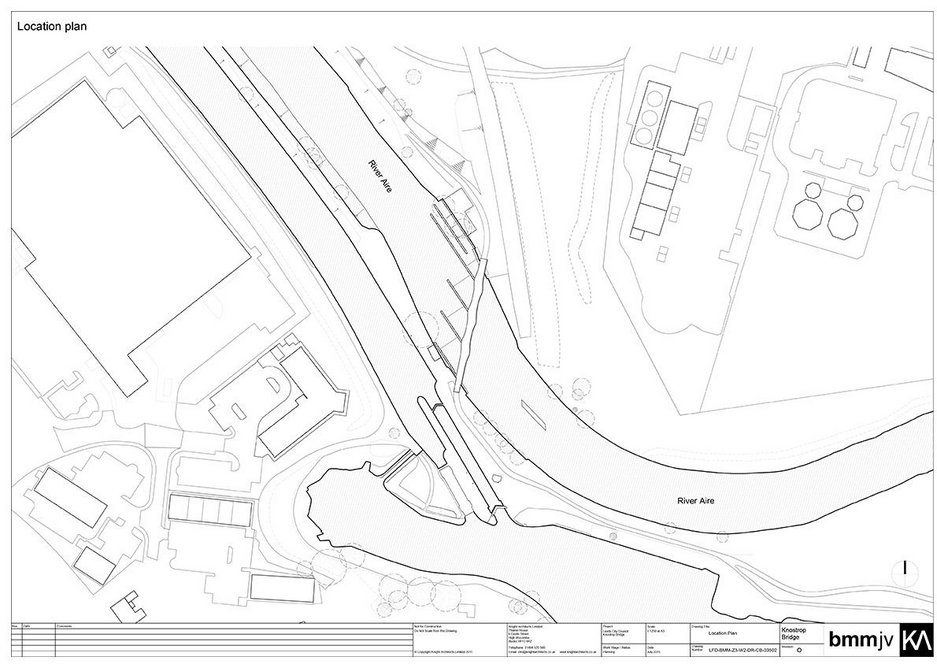 Site plan – the bridge forms a vital pedestrian and cycle link in the Trans Pennine Trail.
