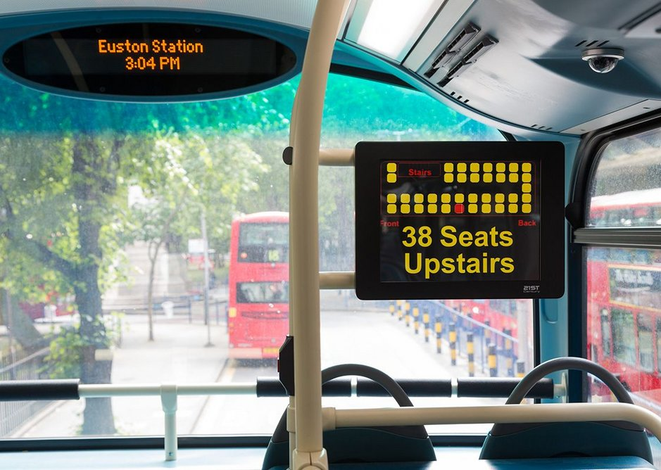 There ARE seats upstairs, thanks iBus. TfL Visual Services.