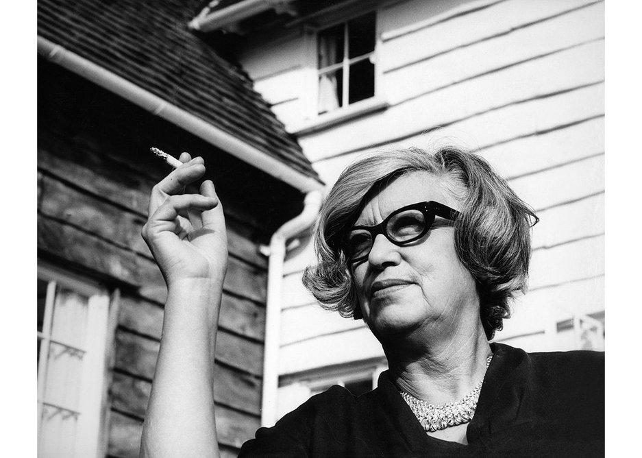 Jane Drew photographed by Jorge Lewinski in July 1965.