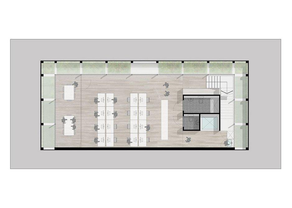 Basement office plan.