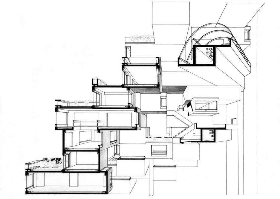 Section through Habitat.