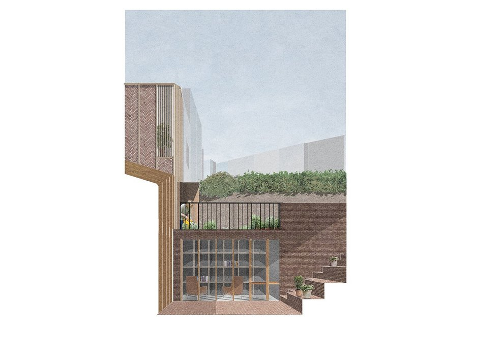 Simon Community - courtyard view.