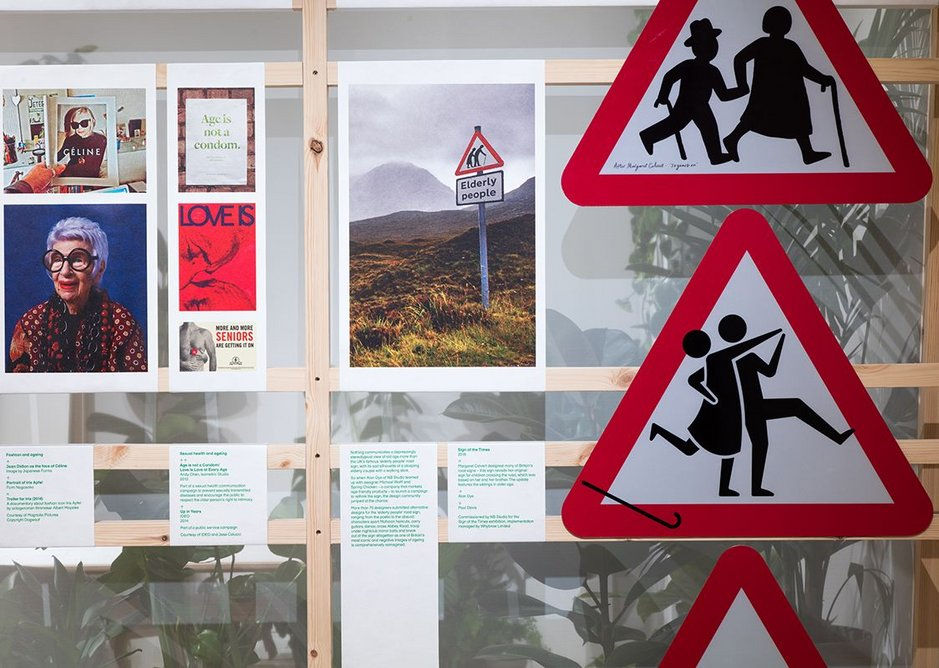 Representations of older people in society, including joyful reinterpretations of the infamous elderly people road sign.