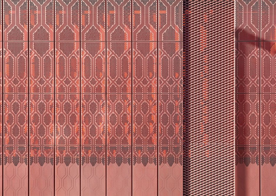 The filigree facade, designed by Toby Pateron. Credit Paul Raftery