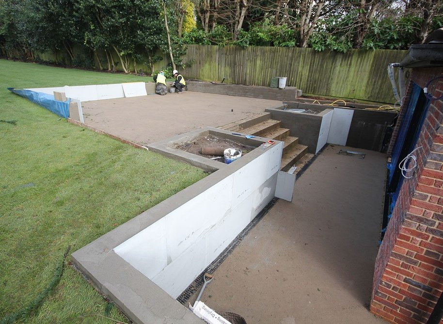 Multiboard as marble backer board at a Sutton Coldfield property.