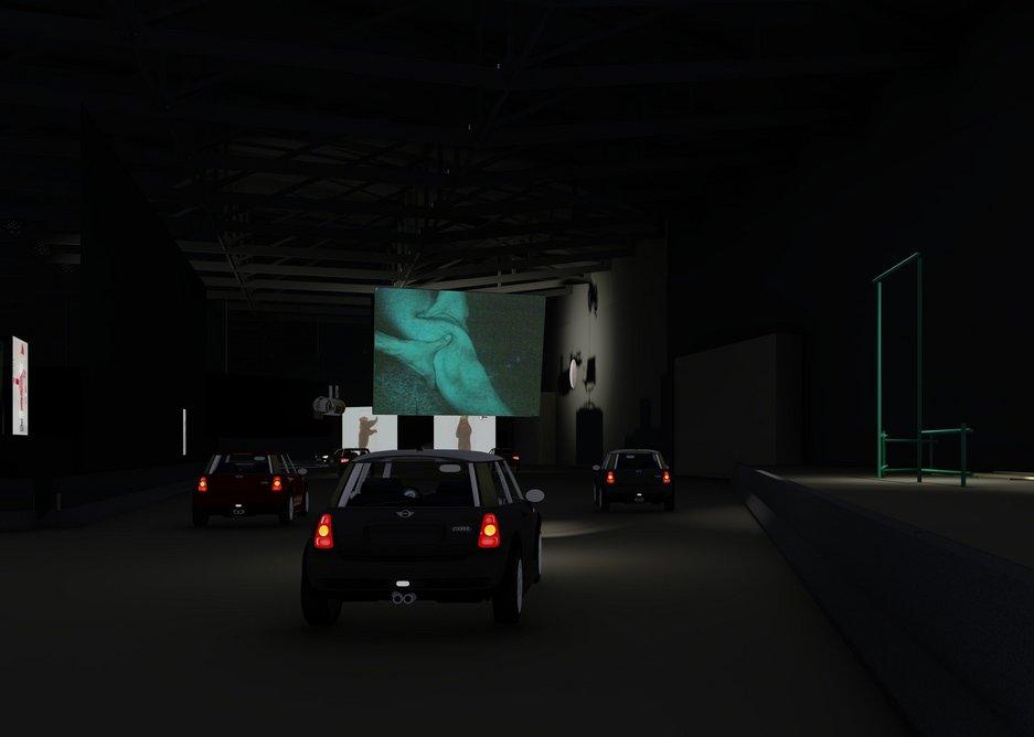 West 8 design visualisation of the drive-thru exhibition August 2020.