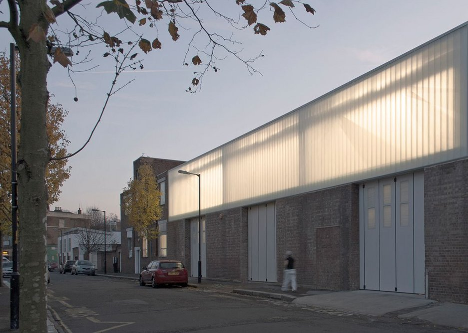 1950s industrial aesthetic maintained with new Profilit glazing