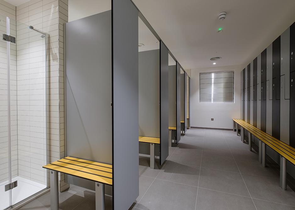 Washroom Washroom staff shower and changing cubicles.