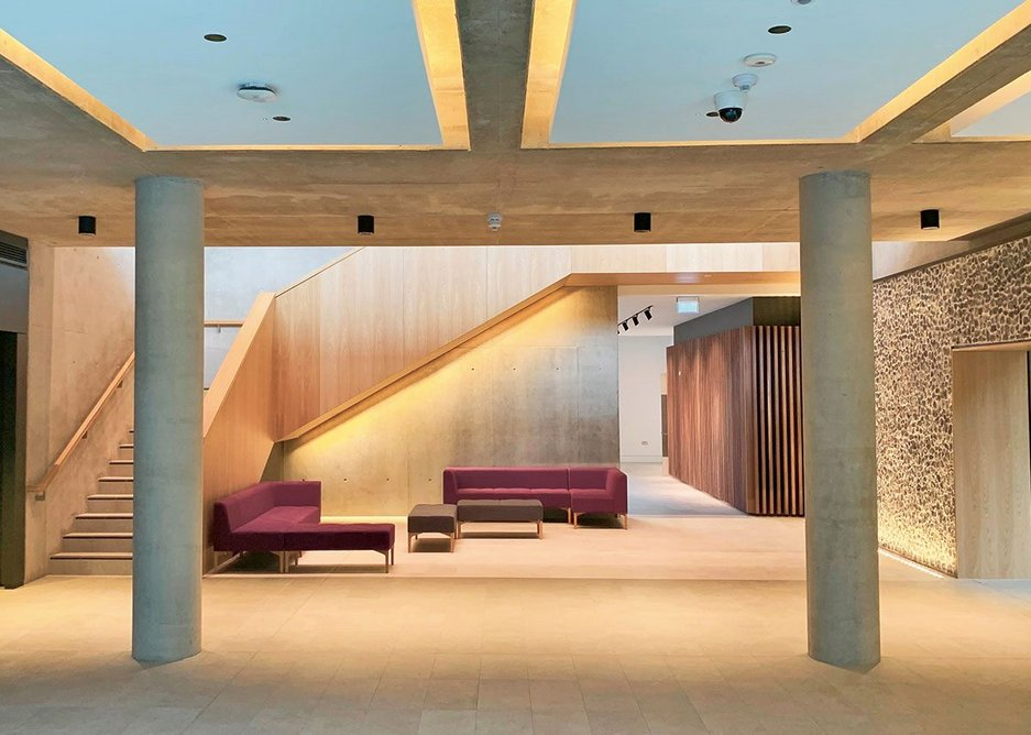 Entrance interior of University of Winchester West Downs campus by Design Engine. This was Triodos's first venture into higher education with a £30m loan.