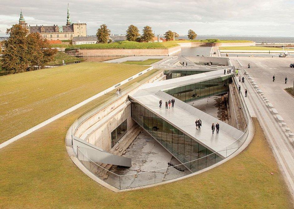The 2013 Danish Maritime Museum sunk in the shadow of Elsinor Castle in Helsingør.