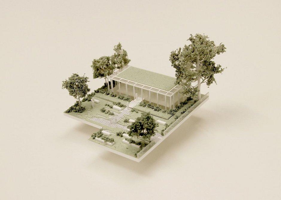 Model of Waldemar Gardens community centre.