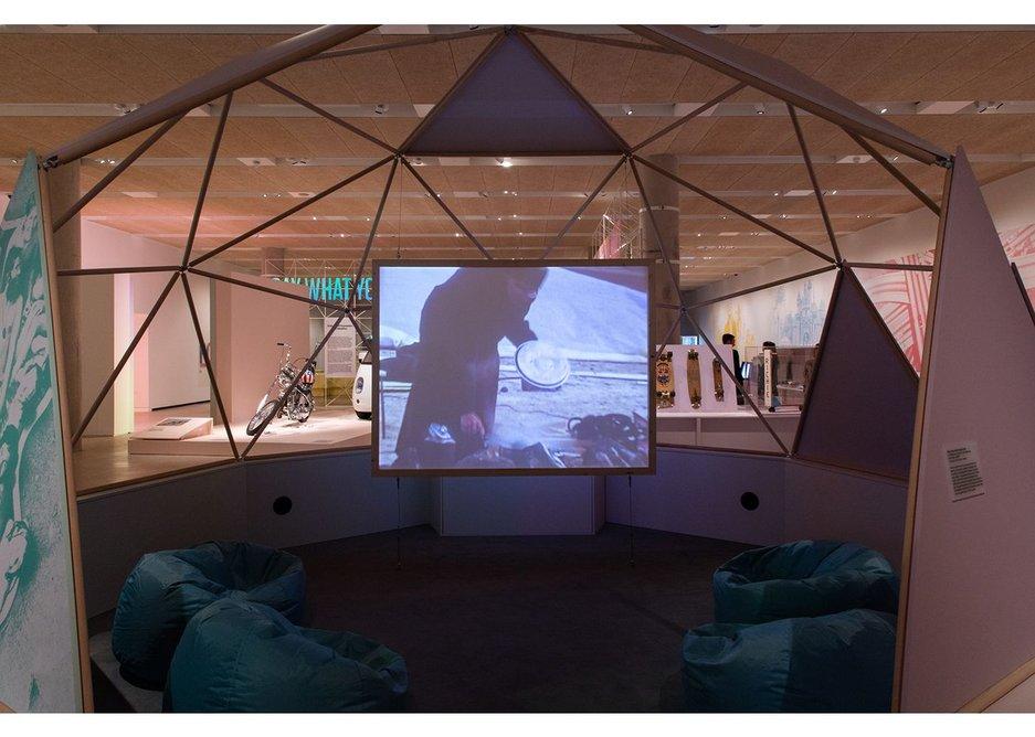 California: Designing Freedom exhibition installation.