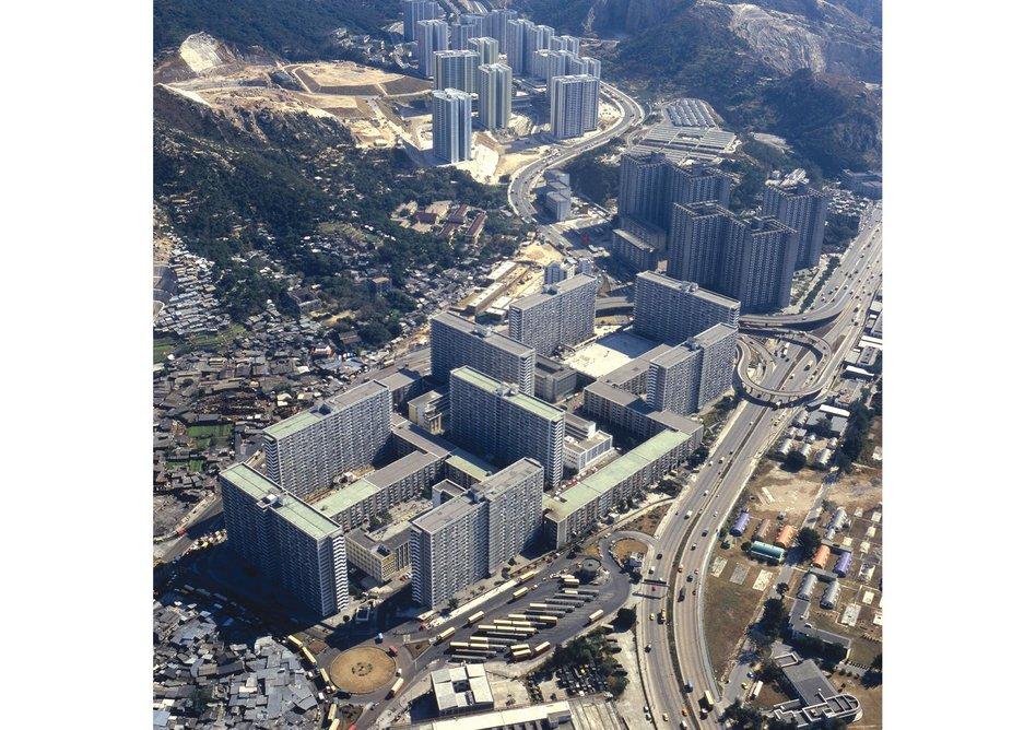 Bird's eye view of Choi Hung estate.