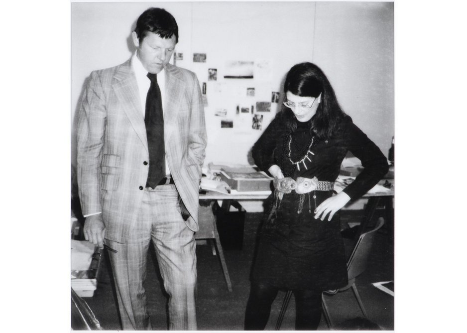 Phyllis Lambert and Gene Summers, principals, Ridgway Ltd, Architects and Developers.