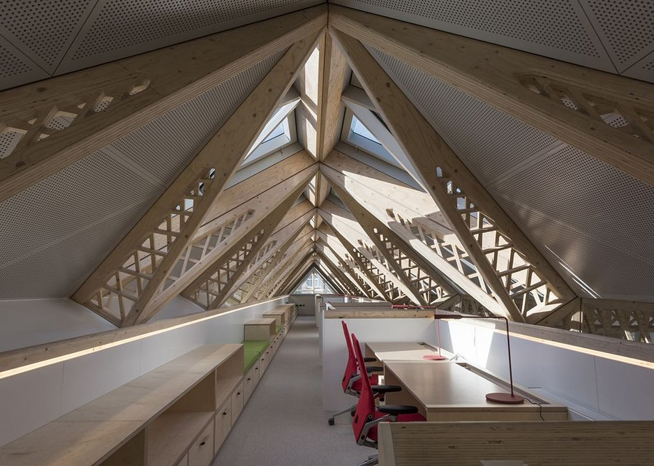 The offices in the roof.