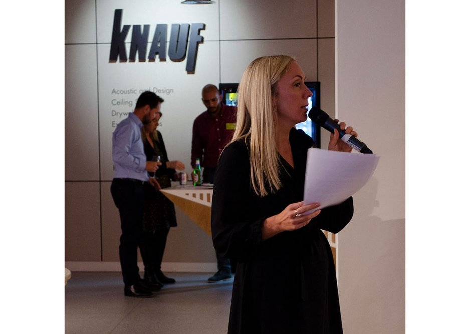 Chair Holly Williams leads discussions on designing around infrastructure as part of the Space in Architecture series, Knauf Clerkenwell.