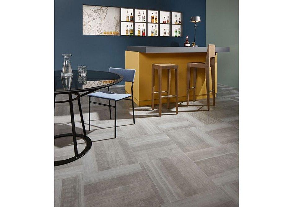 Forbo Allura Fusion vinyl tile flooring in sp62522 Fused Natural Concrete.