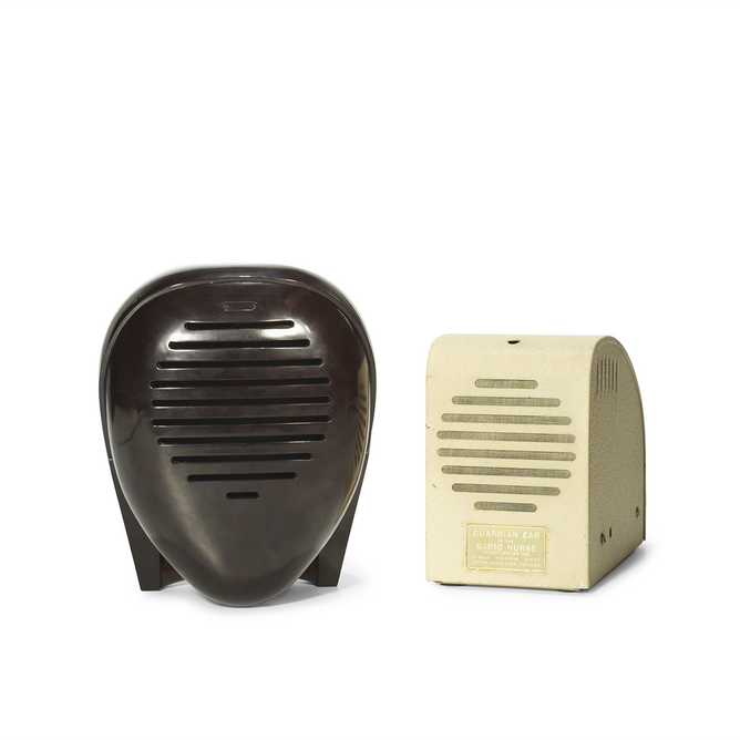 Isamu Noguchi, Radio Nurse and Guardian Ear, 1937, manufactured by Zenith Radio Corp. Photograph by Kevin Noble ©INFGM / ARS - DACS