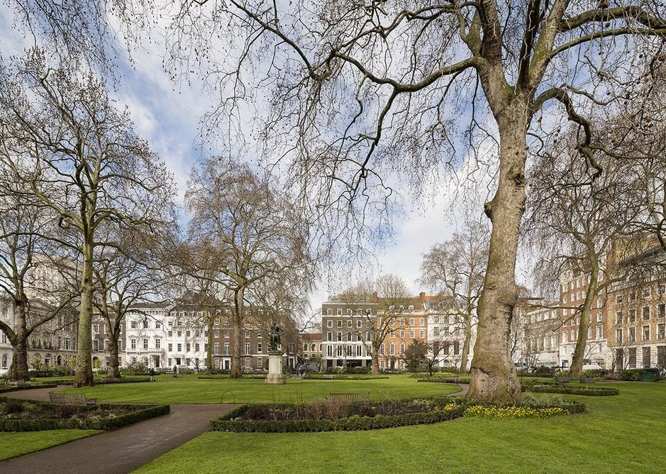 From across St James's Square