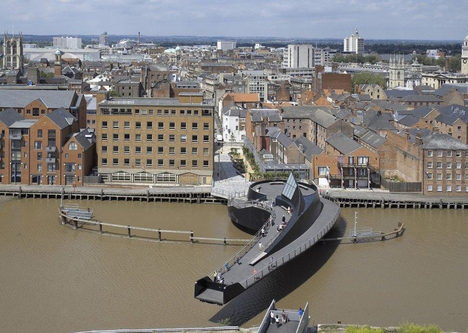 Scale Lane Bridge, Kingston upon Hull (2013). Structural engineer: Alan Baxter Associates. Architect: McDowell+Benedetti.