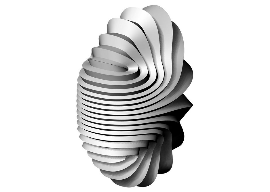 3D computer model for Fountain sculpture by Beep Studio.