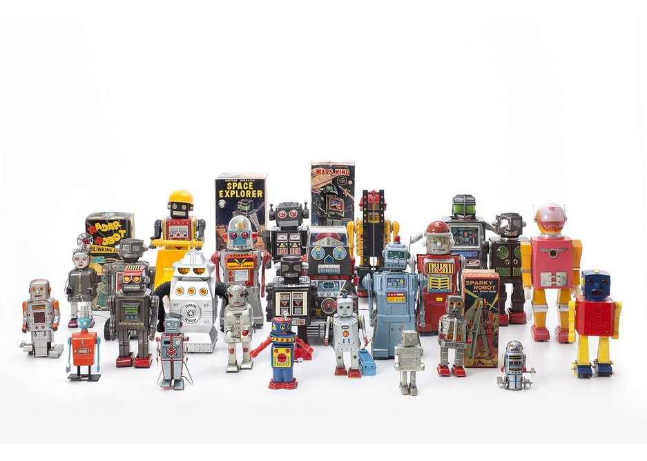 Vintage Toy Robots, 1956 – 1980, various manufacturers. Courtesy private collection.