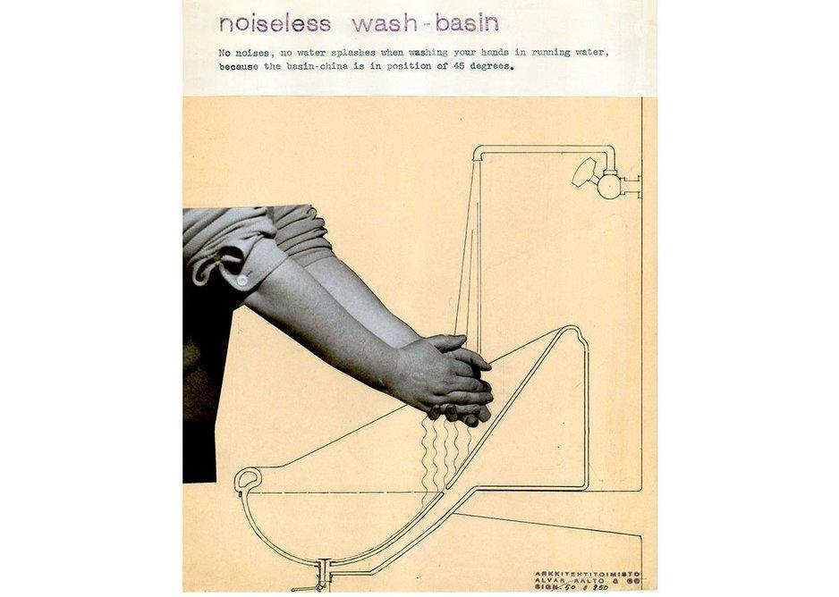 Alvar Aalto, Noiseless Washbasins, 1932.