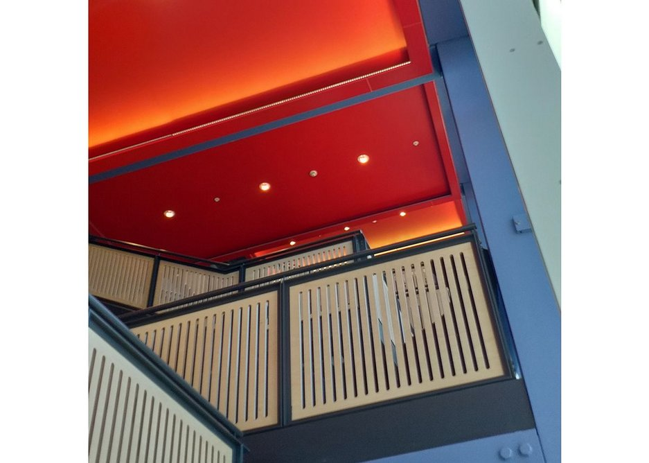 QIC Trims' specialist fabricated perimeter detail was used throughout the open-plan staircases at the LSE Centre Building, giving a sense of space.