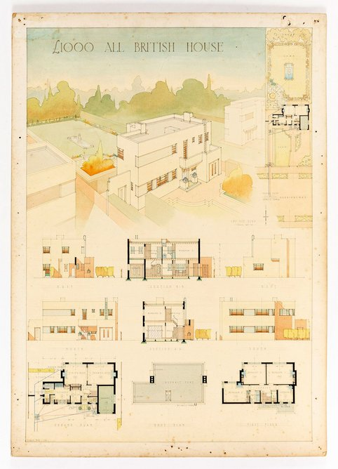 Samuel Hardy, Competition entry for an All-British £1,000 House, 1932.